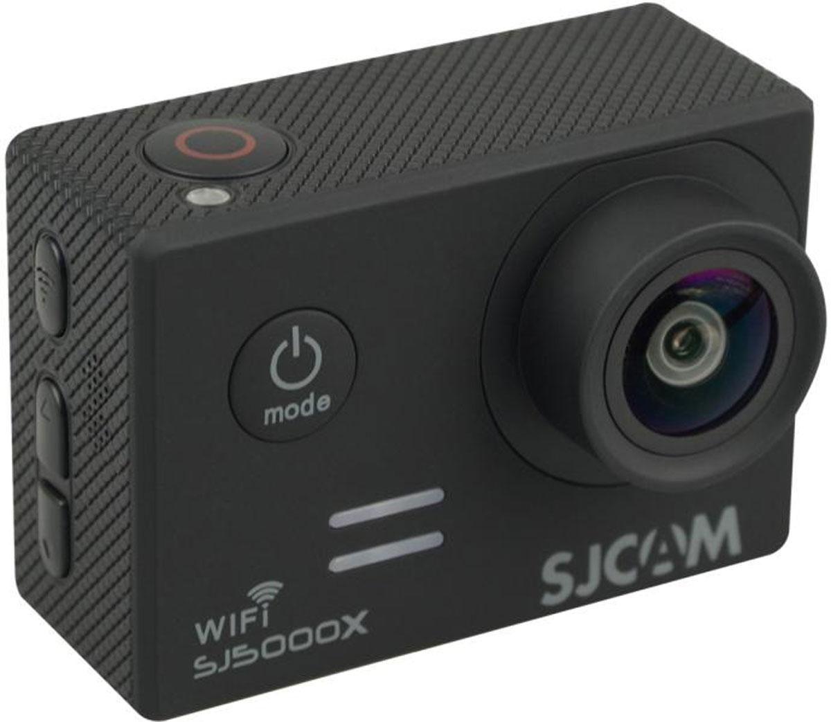 SJCAM SJ5000X Elite, Black экшн-камераSJCAM SJ5000X Elite (black);SJCAM SJ5000X Elite (black)Экшн-камера SJCAM SJ5000X Elite – это отлично зарекомендовавшая себя модель среднего ценового диапазона, которую отличает стильный внешний дизайн, удобство и функциональность использования. Это первая модель SJCAM, способная снимать в интерполированном разрешении 4K. Она идеально подойдет тем пользователям, которые мечтают выйти за рамки Full HD видео с частотой 30 кадров/в сек.Внешне данная камера может иметь несколько вариантов исполнения по цвету. В отличии от предыдущих моделей, камера получила новый экран и другое исполнение кнопок управления. Это связано с сокращением производственных расходов и отлаженной эргономикой, которая успешно прошла все тесты и практические испытания на работоспособность. Корпус камеры отличается компактными размерами (61/42/25 мм) и малым весом (всего 68 грамм). Плюс в том, что эту модель можно применять для спонтанной съемки, нося камеру с собой в сумке.SJ5000X Elite отличает удобное расположение всех элементов. Вы легко и просто сможете включать режим Wi-Fi, перелистывать кадры, выключать камеру. Защитный кейс со специальным пружинным механизмом позволяет камере корректно функционировать даже в самых экстремальных условиях. Например, в воде или при сильном морозе.На правой части корпуса расположены: встроенный микрофон, слот для карты памяти MicroSD, разъемы MicroUSB и MicroHDMI. Стоит помнить о том, что высокое разрешение съемки нуждается в высокой скорости карты, поэтому к выбору накопителя стоит подходить ответственно.Камера имеет большой удобный экран и несколько информационных диодов которые отключаются при необходимости. Дисплей высокого качества, так что даже при ярком солнце изображение отлично видно.В качестве процессора в данной модели разработчики использовали Novatek 96660, который аппаратно может поддерживать 2К видео. Интерполяцией можно добиться разрешения 4К. Плюсом камеры является высококачественная матрица Sony IMX078, име
