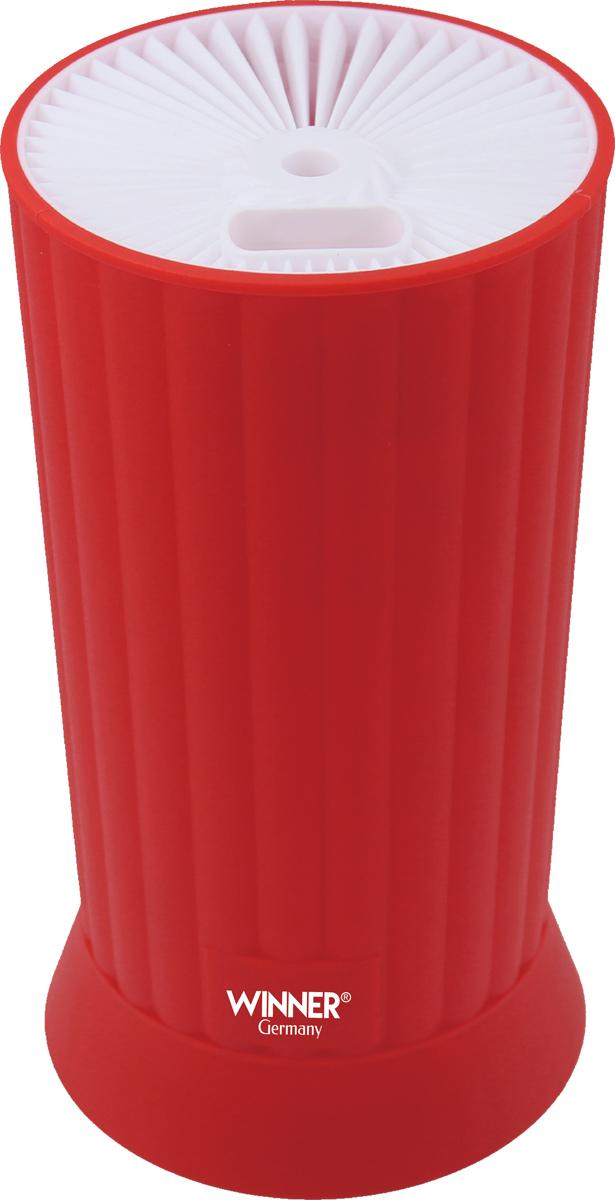 Подставка для ножей Winner, цвет: красный. WR-3152 подставка для ножей nadoba esta деревянная