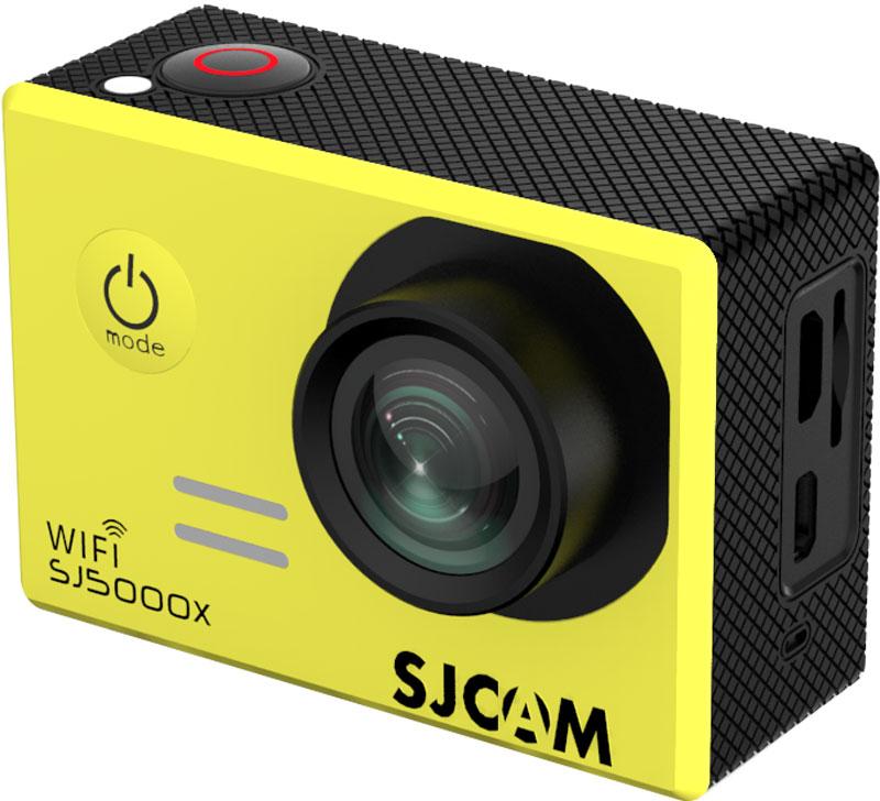 SJCAM SJ5000X Elite, Yellow экшн-камераSJCAM SJ5000X Elite (yellow);SJCAM SJ5000X Elite (yellow)Экшн-камера SJCAM SJ5000X Elite - это отлично зарекомендовавшая себя модель среднего ценового диапазона, которую отличает стильный внешний дизайн, удобство и функциональность использования. Это первая модель SJCAM, способная снимать в интерполированном разрешении 4K. Она идеально подойдет тем пользователям, которые мечтают выйти за рамки Full HD видео с частотой 30 кадров/в сек.Внешне данная камера может иметь несколько вариантов исполнения по цвету. В отличии от предыдущих моделей, камера получила новый экран и другое исполнение кнопок управления. Это связано с сокращением производственных расходов и отлаженной эргономикой, которая успешно прошла все тесты и практические испытания на работоспособность. Корпус камеры отличается компактными размерами (61/42/25 мм) и малым весом (всего 68 грамм). Плюс в том, что эту модель можно применять для спонтанной съемки, нося камеру с собой в сумке.SJ5000X Elite отличает удобное расположение всех элементов. Вы легко и просто сможете включать режим Wi-Fi, перелистывать кадры, выключать камеру. Защитный кейс со специальным пружинным механизмом позволяет камере корректно функционировать даже в самых экстремальных условиях. Например, в воде или при сильном морозе.На правой части корпуса расположены: встроенный микрофон, слот для карты памяти MicroSD, разъемы MicroUSB и MicroHDMI. Стоит помнить о том, что высокое разрешение съемки нуждается в высокой скорости карты, поэтому к выбору накопителя стоит подходить ответственно.Камера имеет большой удобный экран и несколько информационных диодов которые отключаются при необходимости. Дисплей высокого качества, так что даже при ярком солнце изображение отлично видно.В качестве процессора в данной модели разработчики использовали Novatek 96660, который аппаратно может поддерживать 2К видео. Интерполяцией можно добиться разрешения 4К. Плюсом камеры является высококачественная матрица Sony IMX078, 
