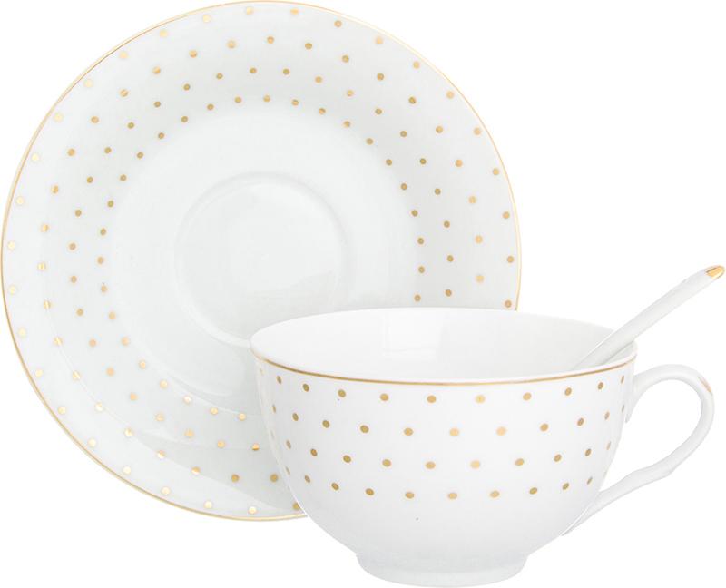 Чайная пара Elan Gallery Звездное небо, с ложкой, 3 предмета730001Чайный набор - это отличный подарок, подходящий для любого повода. Принесет в ваш дом красоту и уют душевных чаепитий!