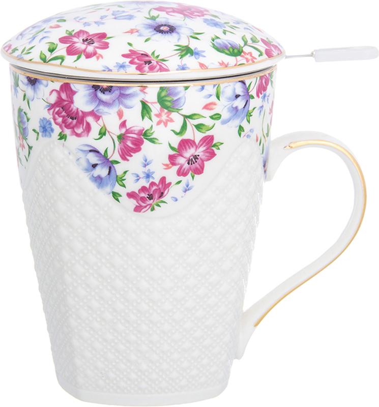 Кружка Elan Gallery Полевые цветы, с ситом, 420 мл730696Кружка для заваривания чая Elan Gallery Полевые цветы выполнена из керамики. В комплект входят - кружка, крышка и металлическое сито. Изделие имеетподарочную упаковку, поэтому станет желанным подарком для ваших близких.