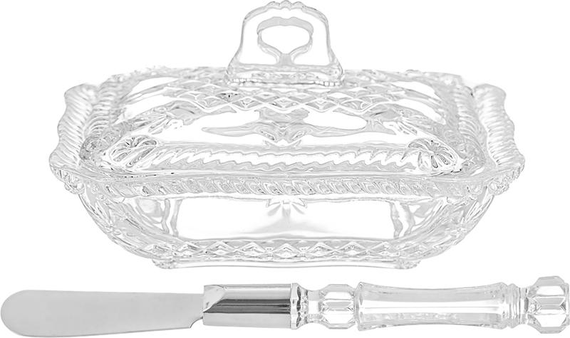 Паштетница Elan Gallery Косичка, с крышкой и ножом, 13,7 х 11,2 х 8890026Паштетница классической формы подойдет и в качестве масленки. Стеклянная крышка предохранит от заветривания и позволит видеть количество продукта в блюде. Не рекомендуется применять абразивные моющие средства.