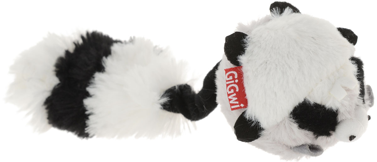 Игрушка для собак GiGwi Енот, с пищалкой, цвет: белый, черный, серый, длина 26 см75106_белый, черный, серыйИгрушка для собак GiGwi Енот порадует вашу собаку и доставит ей море веселья. Несмотря на большое количество материалов, большинство собак для игры выбирают классические плюшевые игрушки. Такие игрушки можно носить, уютно прижиматься во сне, жевать. Некоторые собаки просто любят взять в зубы игрушку и ходить с ней повсюду. Мягкие игрушки сохраняют запах питомца, поэтому он каждый раз к ней возвращается.Милые, мягкие и приятные зверушки характеризуются высоким качеством исполнения и привлекательным дизайном. Внутри игрушки нет наполнителя, что поможет сохранить чистоту в помещении. Игрушка снабжена пищалкой, которая привлекает внимание животного.