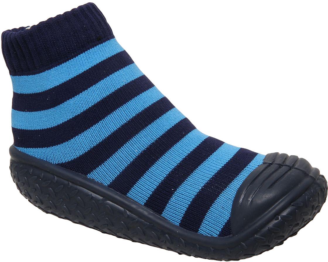 Пинетки детские Сказка, цвет: темно-синий, голубой. R835509. Размер 24R835509Детские пинетки Сказка с прорезиненной подошвой идеально подойдут для маленьких ножек вашего малыша. Изделие изготовлено из высококачественного текстиля, отлично удерживает тепло и пропускает воздух, обеспечивая комфорт. Крошечным ножкам очень понравятся эти пинетки! Мягкая стелька приятна для тела, а резинка удержит пинетки на ножке и гарантирует оптимальную посадку. Широкий подносок обеспечивает свободное движение пальцев. Эти пинетки очень легко надеваются!Такие пинетки - отличное решение для малышей и их родителей!