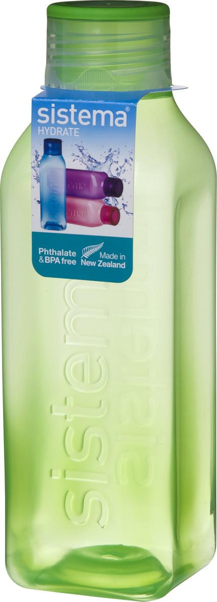 Бутылка для воды Sistema, цвет: зеленый, 1 л890Идеальное решение для активных людей. Стильный ретро дизайн – квадратная форма и модные цвета. Подходит для использования в холодильнике и морозильной камере. Можно использовать в микроволновой печи без крышки. Легко моется – можно мыть в посудомоечной машине в верхней корзине. Безопасный – не содержит бисфенол А и фталаты. Разработано и произведено в Новой Зеландии.