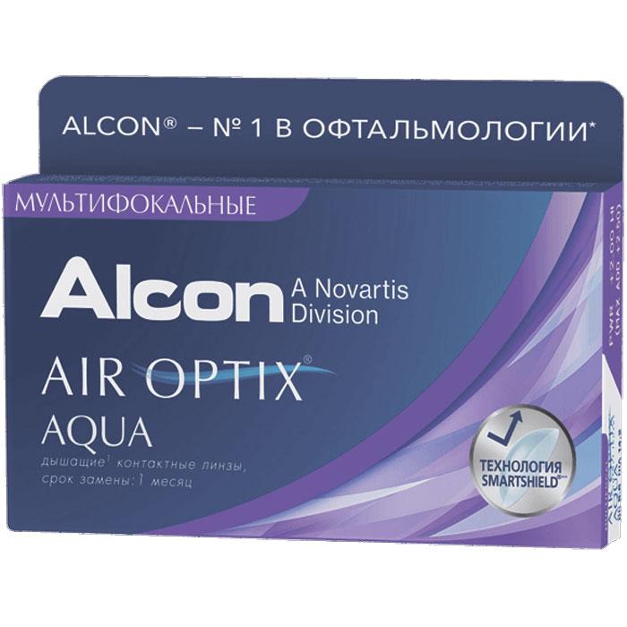 Alcon-CIBA Vision контактные линзы Air Optix Aqua Multifocal (3шт / 8.6 / 14.2 / +1.25 / High) alcon ciba vision контактные линзы air optix aqua multifocal 3шт 8 6 14 2 1 25 low