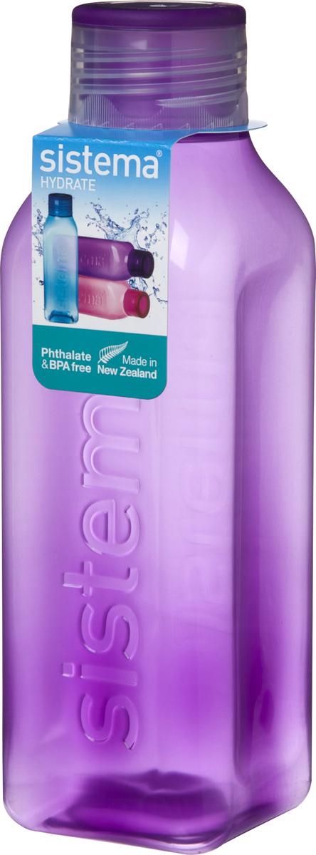 Бутылка для воды Sistema, цвет: фиолетовый, 1 л890Идеальное решение для активных людей. Стильный ретро дизайн – квадратная форма и модные цвета. Подходит для использования в холодильнике и морозильной камере. Можно использовать в микроволновой печи без крышки. Легко моется – можно мыть в посудомоечной машине в верхней корзине. Безопасный – не содержит бисфенол А и фталаты. Разработано и произведено в Новой Зеландии.
