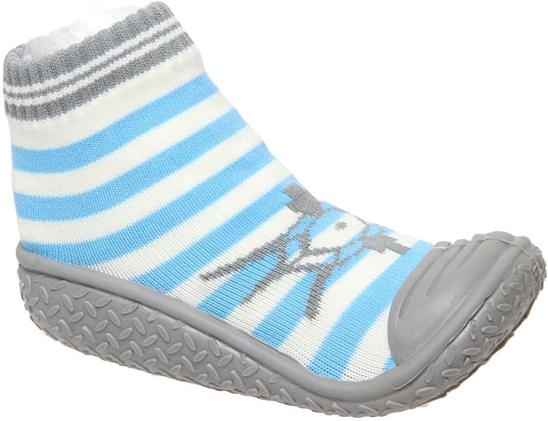 Пинетки детские Сказка, цвет: голубой, белый. R835517. Размер 21R835517Детские пинетки Сказка с прорезиненной подошвой идеально подойдут для маленьких ножек вашего малыша. Изделие изготовлено из высококачественного текстиля, отлично удерживает тепло и пропускает воздух, обеспечивая комфорт. Крошечным ножкам очень понравятся эти пинетки! Мягкая стелька приятна для тела, а резинка удержит пинетки на ножке и гарантирует оптимальную посадку. Широкий подносок обеспечивает свободное движение пальцев. Эти пинетки очень легко надеваются!Такие пинетки - отличное решение для малышей и их родителей!