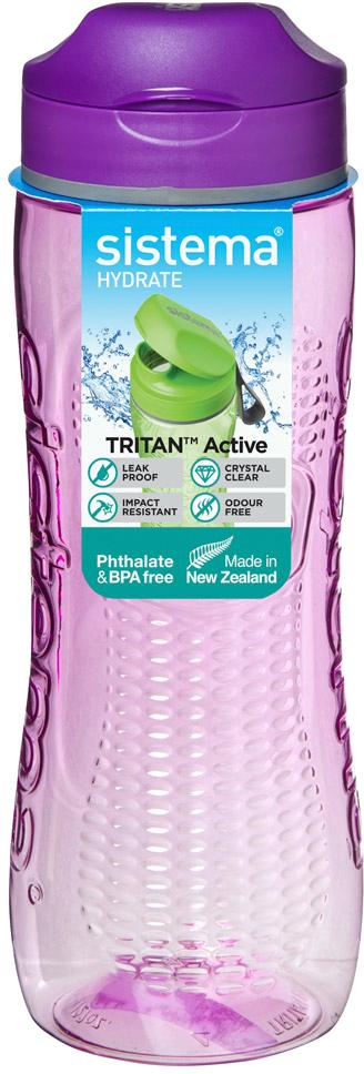 Бутылка для воды Sistema, цвет: фиолетовый, 0,8 л650Идеальный выбор для активных людей.Не царапается и не бьется – высококачественный ударопрочный тритан. Удобно брать с собой – не протекает. Дополнительное удобство – интегрированная петелька для пальца. Видно содержимое и его объем – прозрачный тритан. Удобно пить – широкий носик, через который свободно проходит жидкость. Легко наполнять и мыть – откручивающаяся крышка и широкая горловина. Подходит для использования в холодильнике и морозильной камере. Легко моется – можно мыть в посудомоечной машине. Безопасный – не содержит бисфенол А и фталаты. Разработано и произведено в Новой Зеландии.
