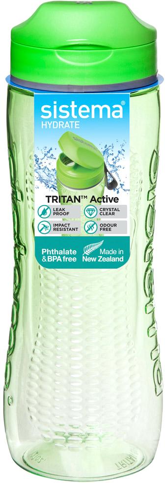 Бутылка для воды Sistema, цвет: зеленый, 0,8 л650Идеальный выбор для активных людей.Не царапается и не бьется – высококачественный ударопрочный тритан. Удобно брать с собой – не протекает. Дополнительное удобство – интегрированная петелька для пальца. Видно содержимое и его объем – прозрачный тритан. Удобно пить – широкий носик, через который свободно проходит жидкость. Легко наполнять и мыть – откручивающаяся крышка и широкая горловина. Подходит для использования в холодильнике и морозильной камере. Легко моется – можно мыть в посудомоечной машине. Безопасный – не содержит бисфенол А и фталаты. Разработано и произведено в Новой Зеландии.