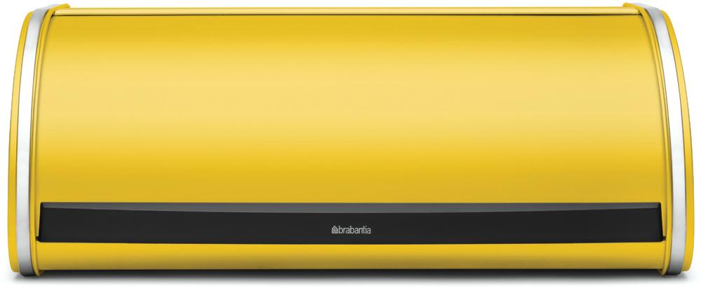 Хлебница Brabantia, цвет: желтый, 27 х 44,5 х 17,5 см487040Компактная в использовании хлебница не занимает дополнительного пространства при открывании и в то же время свободно вмещает две большие буханки хлеба.•Дополнительное место для хранения на кухне: плоская поверхность хлебницы позволяет размещать на ней емкости для хранения и другие предметы.•Рифленая внутренняя поверхность дна для лучшей циркуляции воздуха внутри хлебницы.•Прочная и долговечная хлебница Brabantia изготовлена из коррозионностойких материалов. •Гарантия 10 лет.
