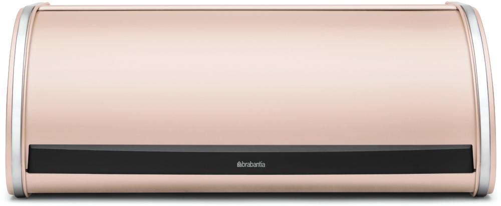 Хлебница Brabantia, цвет: розовый, 26,2 х 44,5 х 17,3 см487026Компактная в использовании хлебница не занимает дополнительного пространства при открывании и в то же время свободно вмещает две большие буханки хлеба.•Дополнительное место для хранения на кухне: плоская поверхность хлебницы позволяет размещать на ней емкости для хранения и другие предметы.•Рифленая внутренняя поверхность дна для лучшей циркуляции воздуха внутри хлебницы.•Прочная и долговечная хлебница Brabantia изготовлена из коррозионностойких материалов. •Гарантия 10 лет.