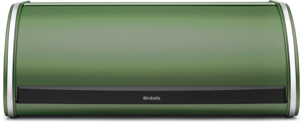 Хлебница Brabantia, цвет: зеленый, 28 х 46,8 х 18,2 см26259Компактная в использовании хлебница не занимает дополнительного пространства при открывании и в то же время свободно вмещает две большие буханки хлеба. •Дополнительное место для хранения на кухне: плоская поверхность хлебницы позволяет размещать на ней емкости для хранения и другие предметы. •Рифленая внутренняя поверхность дна для лучшей циркуляции воздуха внутри хлебницы. •Прочная и долговечная хлебница Brabantia изготовлена из коррозионностойких материалов. •Гарантия 10 лет.