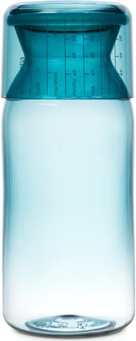 Контейнер пищевой Brabantia, с мерным стаканом, цвет: мятный, 1,3 л brabantia мусорный бак flipbin 30 л белый