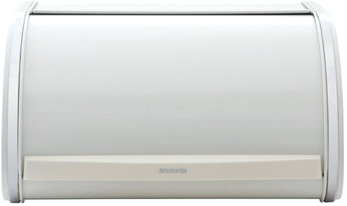 Хлебница Brabantia, цвет: белый, 17,5 х 31,5 х 27 см349126Компактная в использовании хлебница не занимает дополнительного пространства при открывании и в то же время свободно вмещает две большие буханки хлеба.•Дополнительное место для хранения на кухне: плоская поверхность хлебницы позволяет размещать на ней емкости для хранения и другие предметы.•Рифленая внутренняя поверхность дна для лучшей циркуляции воздуха внутри хлебницы.•Прочная и долговечная хлебница Brabantia изготовлена из коррозионностойких материалов. •Гарантия 10 лет.