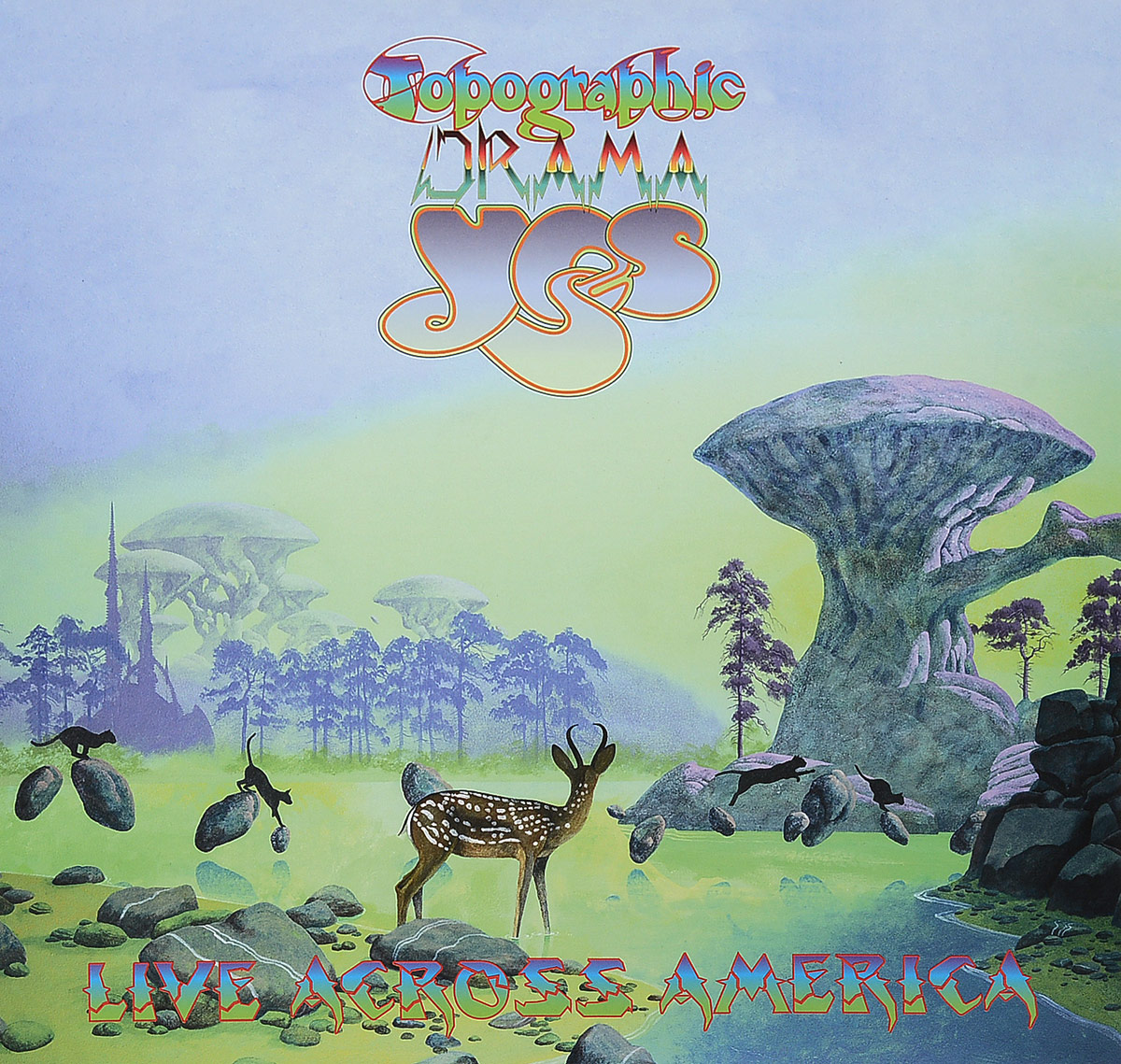 Yes Yes. Topographic Drama - Live Across America (3 LP) yes – the yes album lp