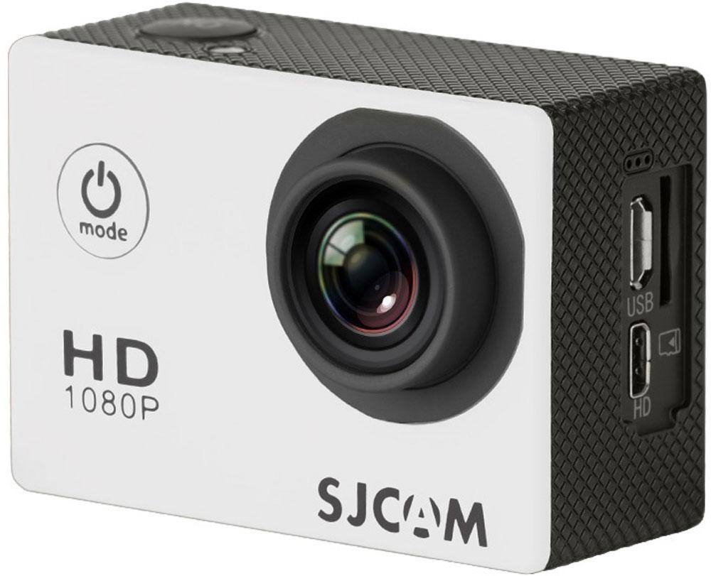 SJCAM SJ4000, White экшн-камераSJCAM SJ4000 (white);SJCAM SJ4000 (white)SJCAM SJ4000 - это недорогой и качественный аналог GoPro. С ее помощью можно снимать экстремальные события, закрепив камеру в удобном месте. Вы также можете делать впечатляющие съёмки под водой на глубине до 30 метров благодаря водонепроницаемому боксу в комплекте.Благодаря режиму цейтаоферной съёмки камера SJCAM может сжимать многочасовые события (например, расцветающую розу) до нескольких секунд. Теперь восход солнца после съёмки произойдёт прямо на глазах ваших друзей! SJCAM SJ4000 может быть использована в качестве видеорегистратора благодаря возможности циклической записи. Для этого разместите её на стекле автомобиля с помощью специального крепления и нажмите на кнопку записи.Данную модель можно использовать и в качестве Full HD веб-камеры. Всё, что необходимо сделать - это подключить SJCAM к компьютеру через кабель USB и запустить Skype.Камера SJ4000 подойдёт практически для любых видов спорта. В комплекте вы найдёте крепления на велосипед, на шлем, липучки и ремни, позволяющие закрепить камеру на любые поверхности.Процессор: Novatek NT96650 Дисплей: LCD, 1,5 (4:3) Емкость аккумулятора: 900 мАч Время автономной работы: до 80 минут