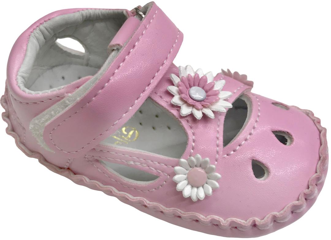 Пинетки для девочки М+Д, цвет: розовый. BB9. Размер 18BB9