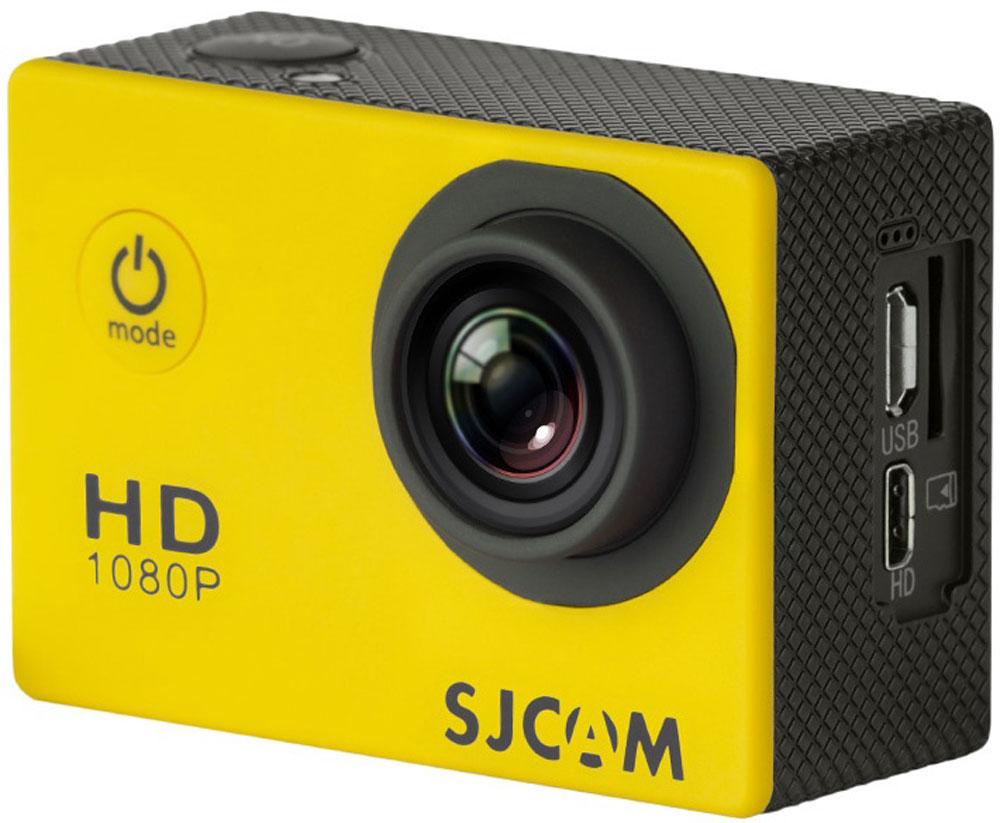 SJCAM SJ4000, Yellow экшн-камераSJCAM SJ4000 (yellow);SJCAM SJ4000 (yellow)SJCAM SJ4000 - это недорогой и качественный аналог GoPro. С ее помощью можно снимать экстремальные события, закрепив камеру в удобном месте. Вы также можете делать впечатляющие съёмки под водой на глубине до 30 метров благодаря водонепроницаемому боксу в комплекте.Благодаря режиму цейтаоферной съёмки камера SJCAM может сжимать многочасовые события (например, расцветающую розу) до нескольких секунд. Теперь восход солнца после съёмки произойдёт прямо на глазах ваших друзей! SJCAM SJ4000 может быть использована в качестве видеорегистратора благодаря возможности циклической записи. Для этого разместите её на стекле автомобиля с помощью специального крепления и нажмите на кнопку записи.Данную модель можно использовать и в качестве Full HD веб-камеры. Всё, что необходимо сделать - это подключить SJCAM к компьютеру через кабель USB и запустить Skype.Камера SJ4000 подойдёт практически для любых видов спорта. В комплекте вы найдёте крепления на велосипед, на шлем, липучки и ремни, позволяющие закрепить камеру на любые поверхности.Процессор: Novatek NT96650 Дисплей: LCD, 1,5 (4:3) Емкость аккумулятора: 900 мАч Время автономной работы: до 80 минут