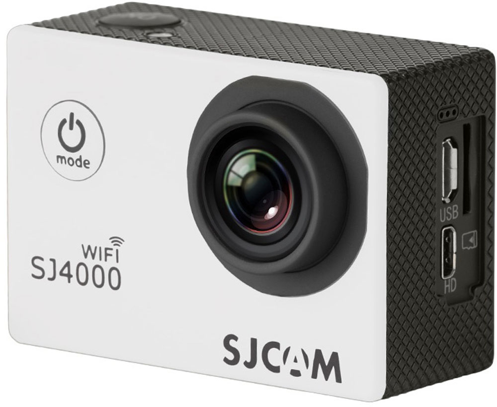 SJCAM SJ4000 Wi-Fi, White экшн-камера - Цифровые видеокамеры