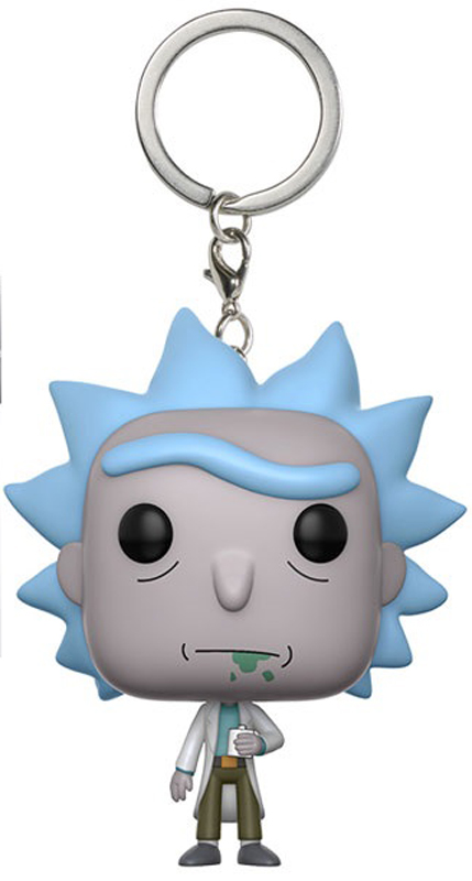 Брелок Funko Pocket POP! Keychain: Rick & Morty: Rick 12916-PDQ 5pcs fura keychain