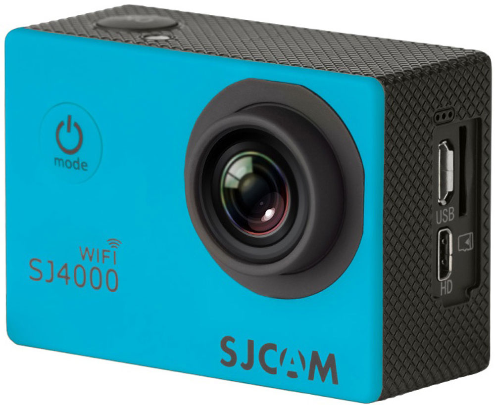 SJCAM SJ4000 Wi-Fi, Blue экшн-камера - Цифровые видеокамеры