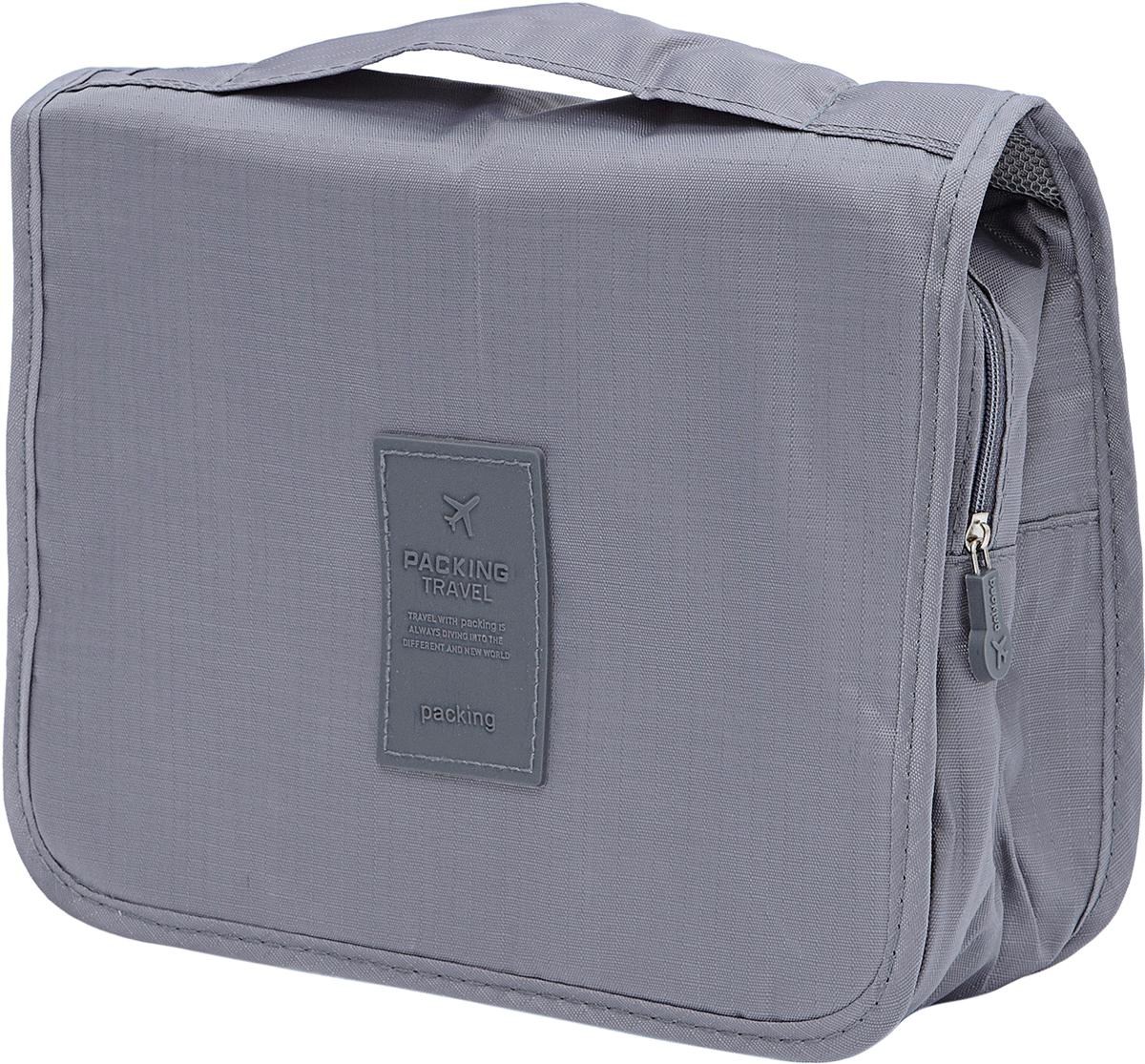 Органайзер для хранения одежды Homsu Basic, универсальный, подвесной, 24 х 18,5 х 9,5 смHOM-895Подвесной органайзер для хранения косметики и средств личной гигиены, выполнен из водоотталкивающего материала, имеет удобный крючок для подвешивания. Помимо основного, имеет одно прозрачное отделение на молнии, а также несколько кармашков разного размера. Такой органайзер незаменим во время путешествий и походов в спортзал.