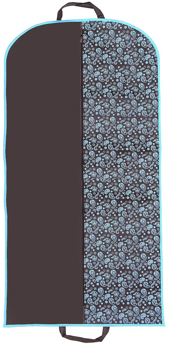 Чехол для одежды Homsu Paisley, цвет: коричневыйHOM-899Чехол для одежды застегивается на молнию, изготовлен из дышащего нетканного материала, имеет отверстие для вешалки сверху, а также удобные ручки для переноски. Такой чехол защитит Вашу одежду от пыли, загрязнений и повреждений во время сезонного хранения и транспортировки. Выполнен в классическом дизайне Пейсли.
