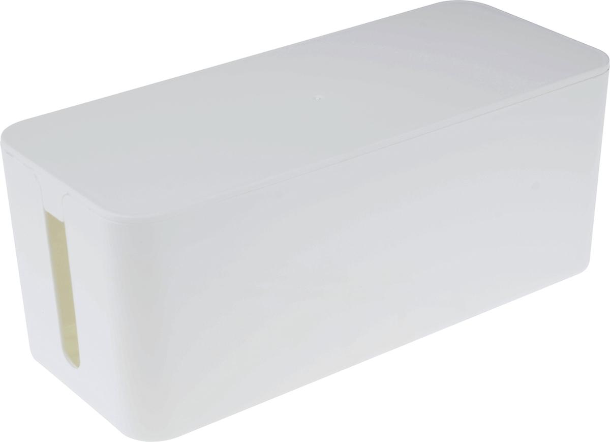 Органайзер для электроники и проводов Homsu, цвет: белый, 32 х 13,5 х 13 смHOM-948Органайзер для проводов Homsu поможет собрать все провода в одном месте, а также защитит их от пыли. Больше никаких запутанных проводов! Благодаря лаконичному дизайну органайзер отлично впишется в любой интерьер. Верхняя крышка легко открывается.
