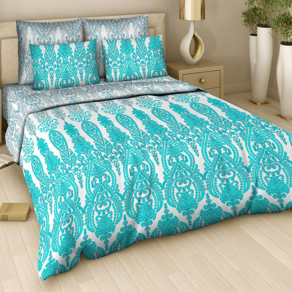 Комплект белья Арт Деко Императрица, 2-спальный, наволочки 70 x 70, цвет: голубой. 7310/1