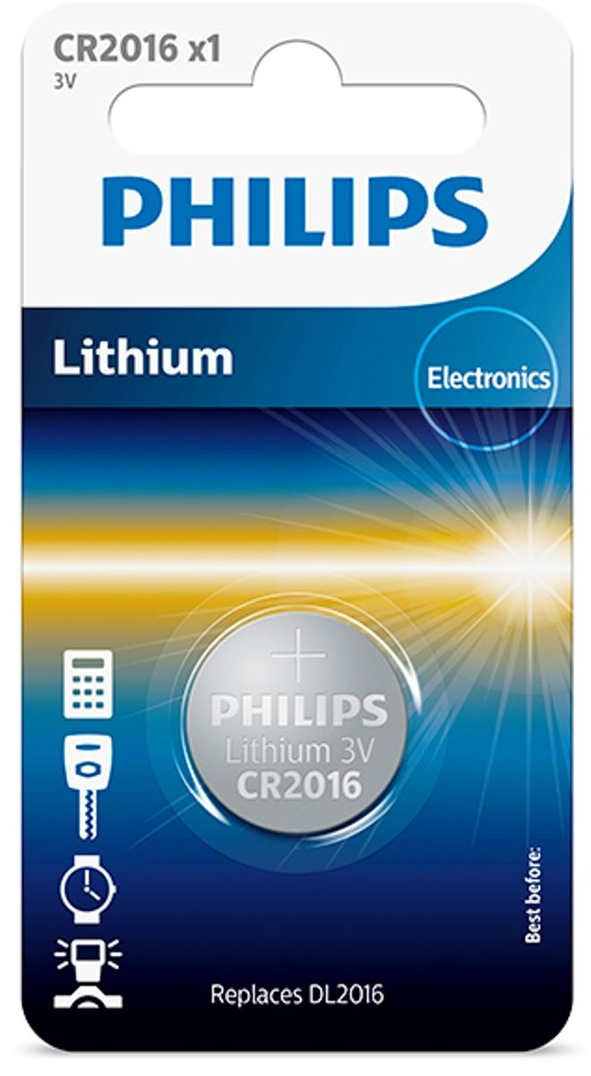Батарейка литиевая Philips Пуговица, 3 В, 75 мА/чCR2016/01B;CR2016/01BПри производстве использована технология для гарантированного надежного и долгосрочного использования. Технологии литиевых, серебряных и щелочных соединений обеспечивают надежную мощность питания и длительный срок службы элементов в миниатюрных устройствах. Батарея остается годной для использования в течение 10 лет. Любая батарея разряжается, когда она не используется. Эта батарея содержит, по крайней мере, 80% своей первоначальной энергии до окончания срока годности.