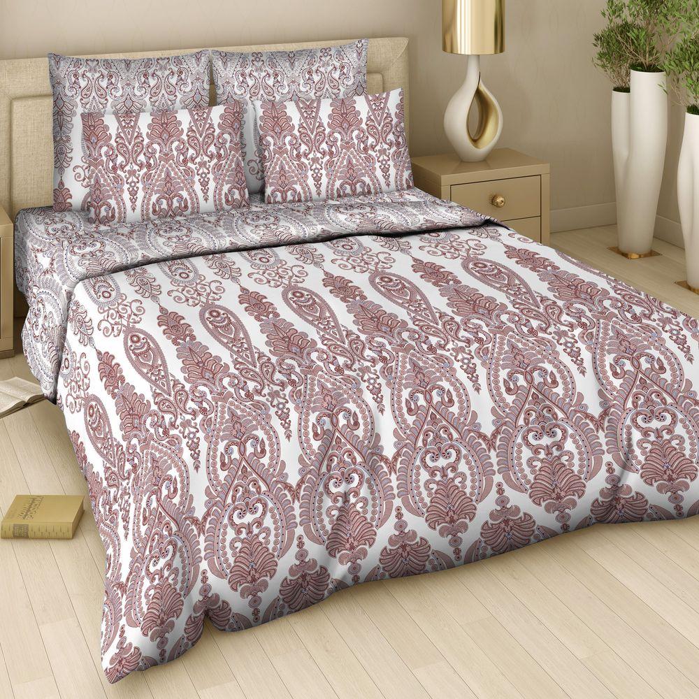 Комплект белья Арт Деко Императрица, 1,5-спальный, наволочки 70 x 70, цвет: коричневый. 7310/2