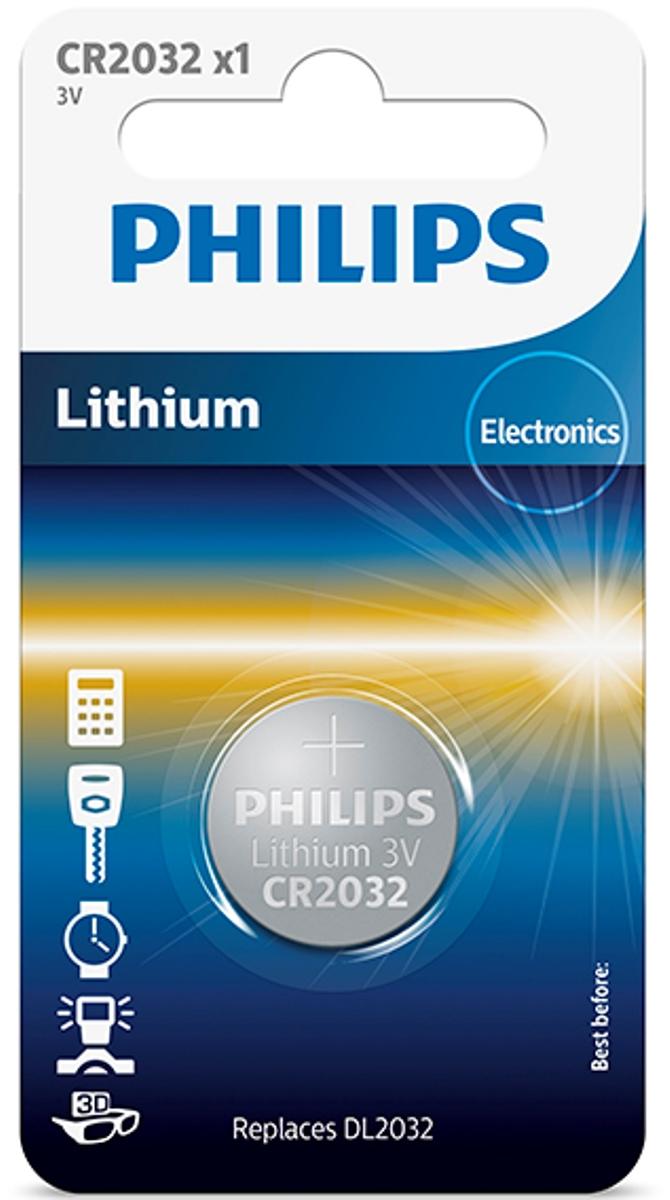 Батарейка литиевая Philips Пуговица, 3 В, 210 мА/чCR2032/01B;CR2032/01BПри производстве использована технология для гарантированного надежного и долгосрочного использования. Технологии литиевых, серебряных и щелочных соединений обеспечивают надежную мощность питания и длительный срок службы элементов в миниатюрных устройствах. Батарея остается годной для использования в течение 10 лет Любая батарея разряжается, когда она не используется. Мы гарантируем, что эта батарея содержит, по крайней мере, 80% своей первоначальной энергии до окончания срока годности.
