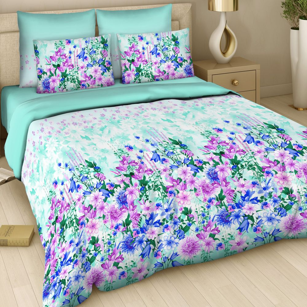"""Комплект постельного белья Арт Деко """"Свежая прохлада"""" изготовлен из натуральных и качественных материалов, поможет вам расслабиться и подарит спокойный сон.  Постельное белье имеет и привлекающий внешний вид,  отлично стирается, гладится, быстро сохнет. Благодаря такому комплекту постельного белья вы сможете создать атмосферу уюта и комфорта в вашей спальне."""