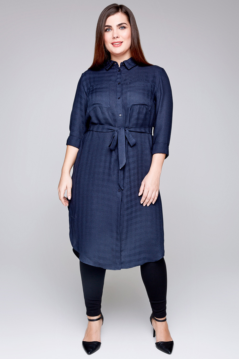 Блузка женская Bestia Donna Profitrole_w, цвет: темно-синий. 41200260082_600. Размер 5641200260082_600