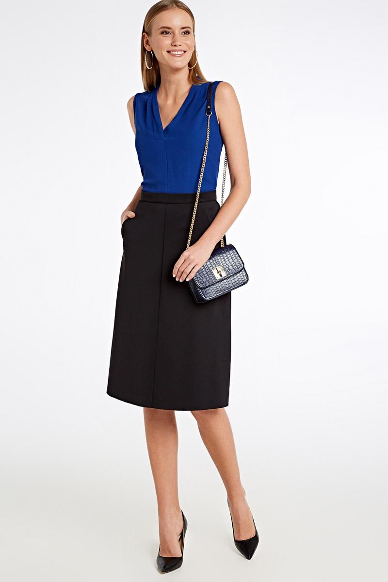 Блузка женская Concept Club Elros, цвет: синий. 10200270160_500. Размер XL (50) блузка женская concept club bask цвет черный 10200260168 размер xl 50