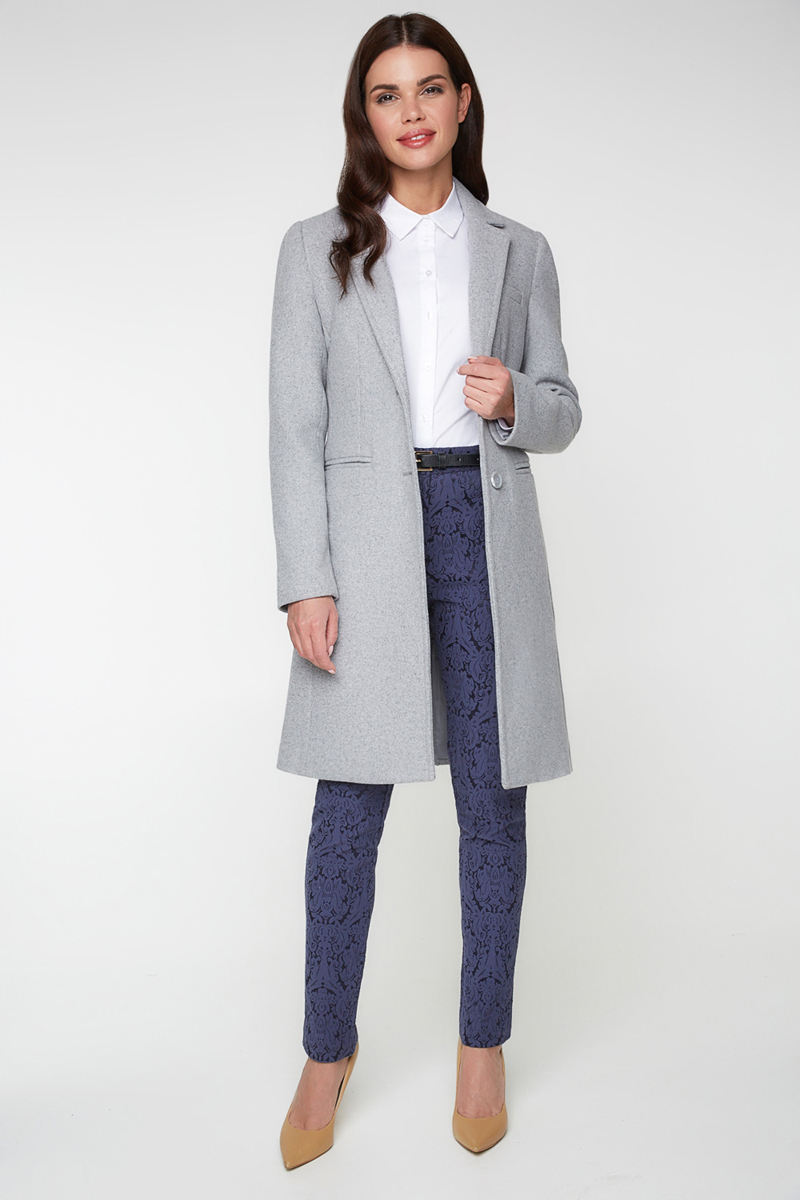 Пальто женское Bestia Jufi_b, цвет: серый. 40010610001_1900. Размер 4240010610001_1900