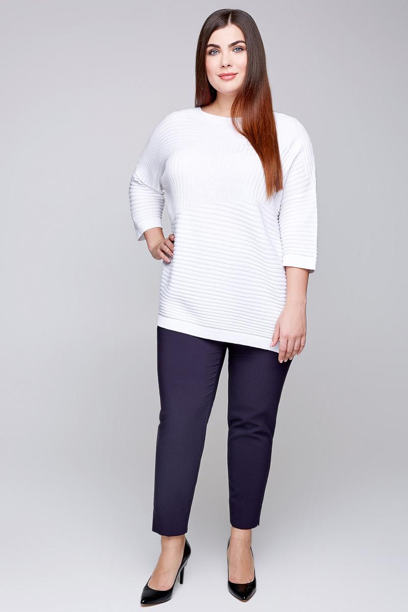 Джемпер женский Bestia Donna Moris1_w, цвет: белый. 41200320003_200. Размер 50/52 цена 2017