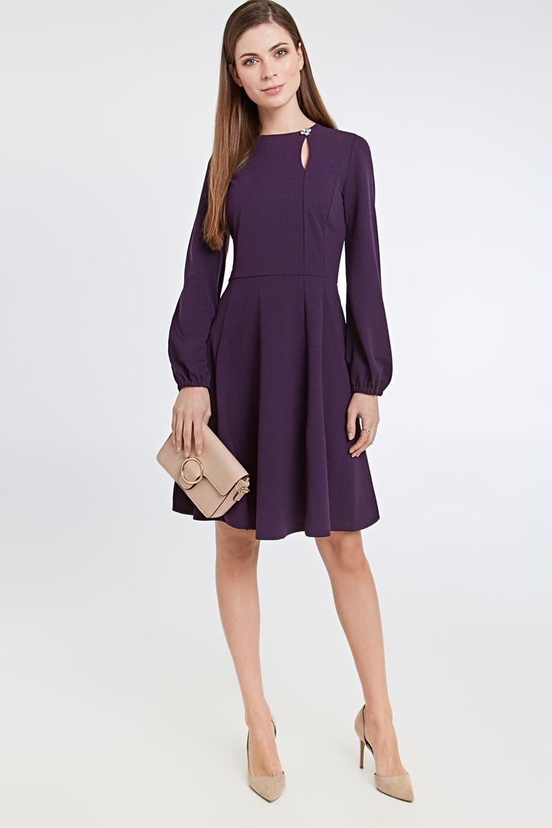 Платье Concept Club Villo, цвет: сливовый. 10200200425_2700. Размер L (48)10200200425_2700Платье Concept Club Villo выполнено из качественного материала. Модель с круглым вырезом горловины сзади застегивается на молнию.
