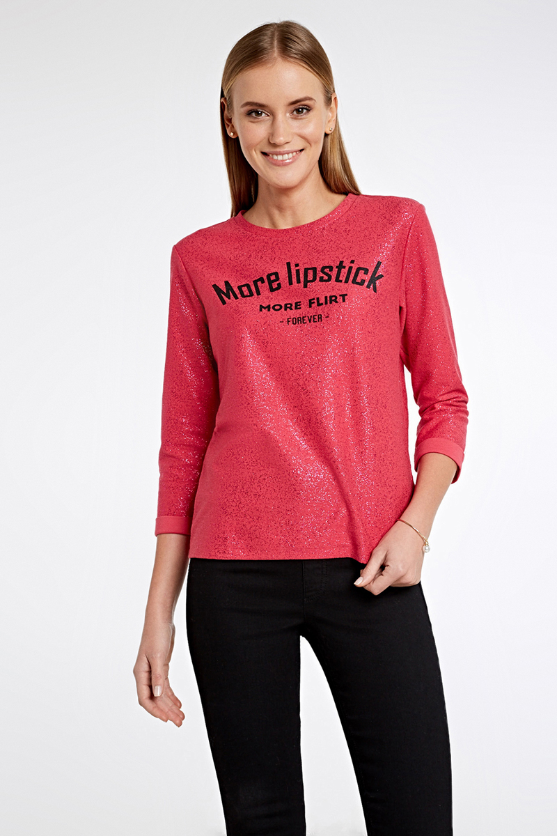 Джемпер женский Concept Club Funk, цвет: красный. 10200170068_1400. Размер L (48) брюки женские concept club coral цвет красный 10200160292 1500 размер l 48