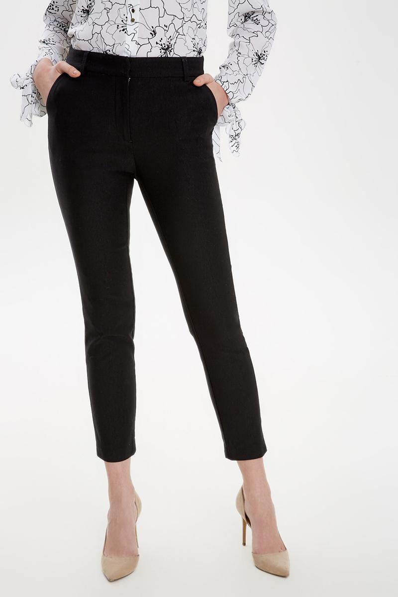 Брюки женские Concept Club Ralen, цвет: черный. 10200160284_100. Размер L (48) брюки женские concept club elb цвет розово коричневый 10200160282 1000 размер l 48
