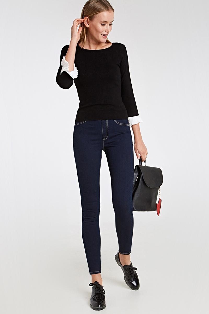 Брюки женские Concept Club Veghel 2SS18, цвет: глубокий синий. 10200160277_8600. Размер L (48)10200160277_8600Стильные женские брюки Concept Club Iwer изготовлены из качественного материала. Модель зауженного кроя с завышенной посадкой выполнена в лаконичном стиле.