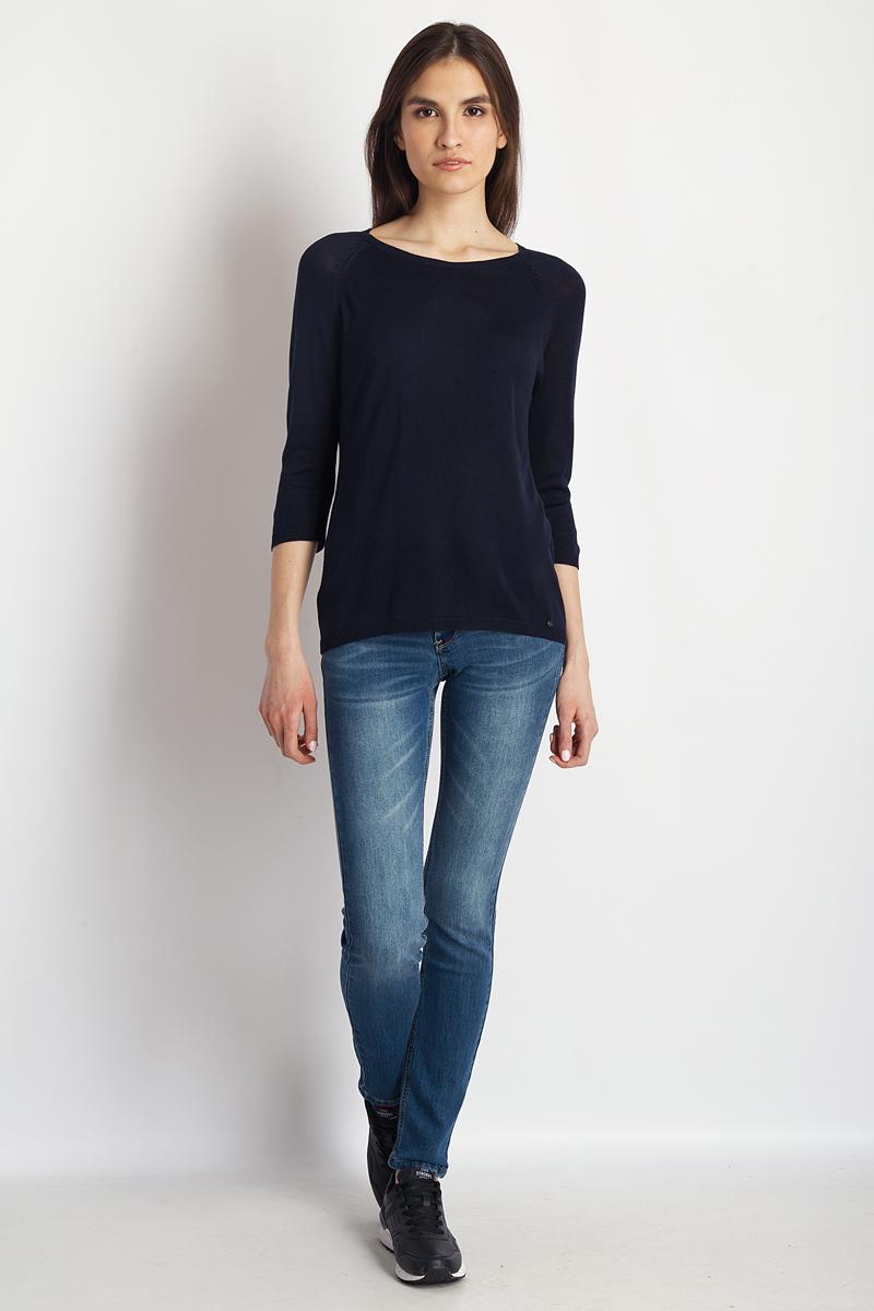 Купить Джемпер женский Finn Flare, цвет: темно-синий. B18-11123_101. Размер M (46)