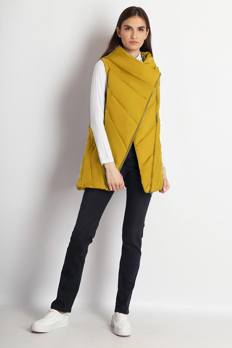 Жилет утепленный женский Finn Flare, цвет: желтый. B18-12011_432. Размер M (46) жилет finn flare жилеты длинные
