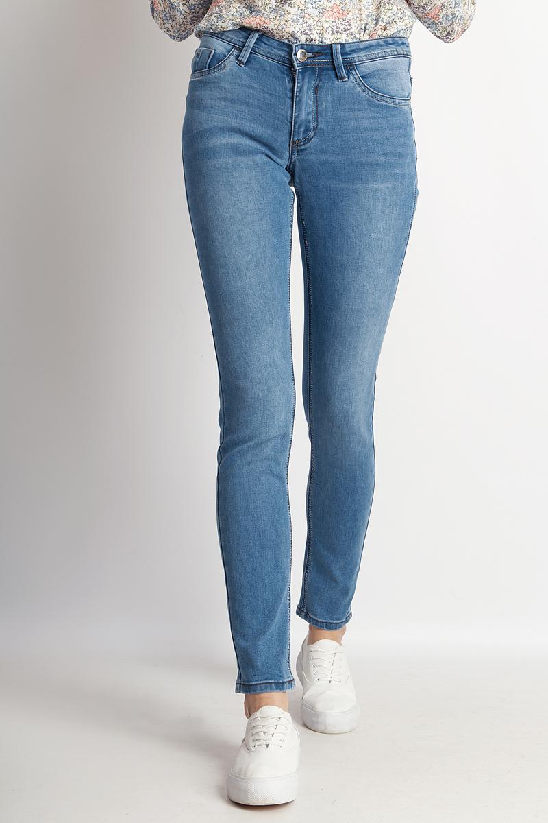 Джинсы женские Finn Flare, цвет: синий. B18-15003_125. Размер 31-32 (46/48-32) джинсы flare l32
