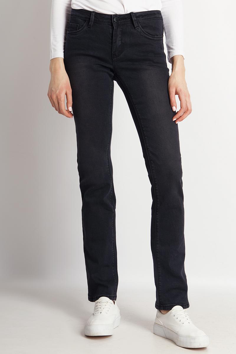 Джинсы женские Finn Flare, цвет: черный. B18-15005_200. Размер 29-32 (44/46-32) джинсы flare l32