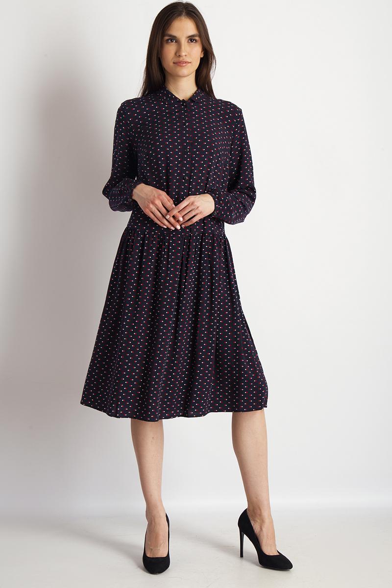 Платье Finn Flare, цвет: темно-синий. B18-32031_101. Размер M (46)B18-32031_101