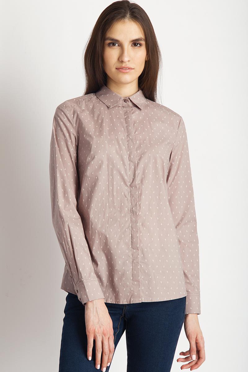 Блузка женская Finn Flare, цвет: пепельно-розовый. B18-32041_325. Размер M (46)B18-32041_325