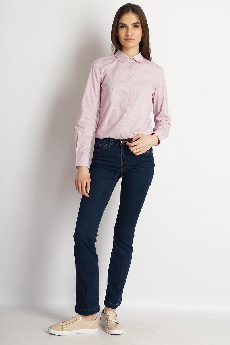 Блузка женская Finn Flare, цвет: сиреневый. B18-32041_801. Размер L (48) блузка женская finn flare цвет лиловый синий бежевый s16 14085 814 размер m l 46 48