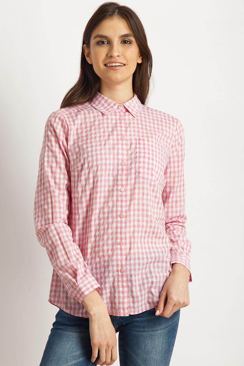 Блузка женская Finn Flare, цвет: розовый. B18-32067_811. Размер S (44) плащ blugirl folies by blumarine плащ